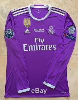 best service d7911 b15d8 100% Authentic Real Madrid Ronaldo 2017 UCL Final Cardiff ...