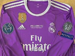100% Authentic Real Madrid Ronaldo 2017 UCL Final Cardiff jersey size M