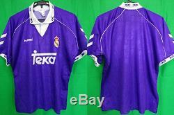 1993-1994 Real Madrid Away Retro Vintage Jersey Shirt Camiseta Teka hummel M