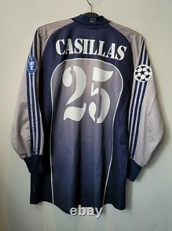 2000-01 Real MADRID GK L/S No. 25 CASILLAS UEFA Champions Jersey Shirt Trikot