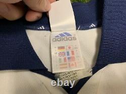 2000 2001 Real Madrid Luis Figo Home Jersey Shirt Kit White Large L 10 Adidas