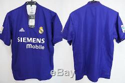 2001-2002 Real Madrid Centenary Jersey Shirt Camiseta Third SIEMENS mobile M NWT