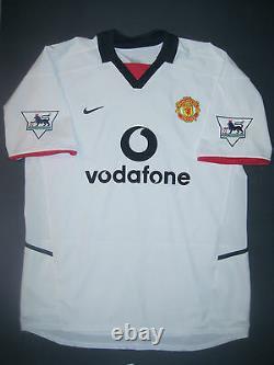 2002-2003 Nike Manchester United David Beckham Jersey Shirt Real Madrid England