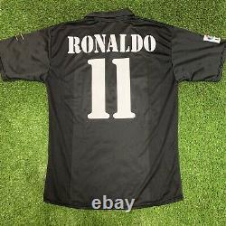 2002 2003 Real Madrid Ronaldo Adidas Jersey Shirt Kit Black Away XL Centenary
