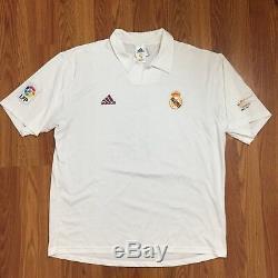 2002 Real Madrid Centenary Jersey Shirt Home La Liga Zidane 5 Adidas XL Read
