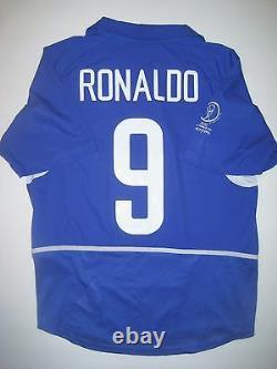 2002 World Cup Nike Brazil Ronaldo Jersey Shirt Real Madrid Milan Brasil Away