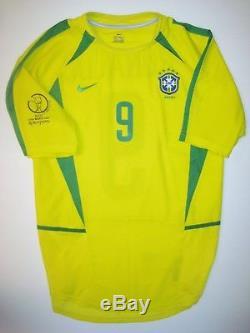 brand new d9fc4 6977a 2002 World Cup Nike Brazil Ronaldo Jersey Shirt Real Madrid ...