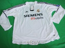 2004-2005 Real Madrid Home Jersey Shirt Camiseta Roberto R. Carlos 3 L CL L/S NWT