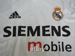 2004-2005 Real Madrid Home Jersey Shirt Camiseta Siemens UEFA UCL L/S L BNWT