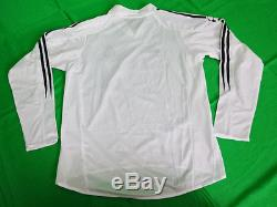 2004-2005 Real Madrid Home Jersey Shirt Camiseta UEFA Champions League CL L/S S