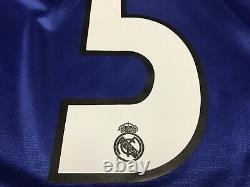 2004 2005 Real Madrid Zidane Jersey Shirt Kit Third Blue Adidas 5 S Small Away