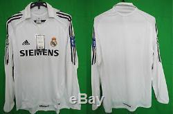 2005-2006 Real Madrid Jersey Shirt Camiseta Home Siemens UEFA UCL L/S L BNWT