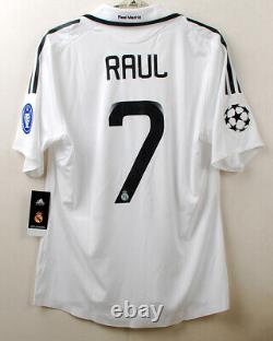 2008-09 Real MADRID Home S/S No. 7 RAUL Player Issue UEFA Champions League Shirt
