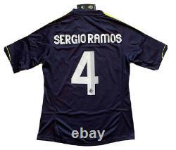 2012/13 Real Madrid Away Jersey #4 Sergio Ramos Medium Adidas Soccer NEW