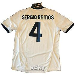 2012/13 Real Madrid Home Jersey #4 SERGIO RAMOS Large Adidas Football NEW