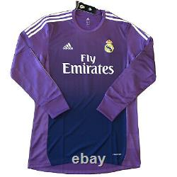 2013/14 Real Madrid Purple Gk Jersey #1 Casillas XL Long Sleeve Player Issue NEW