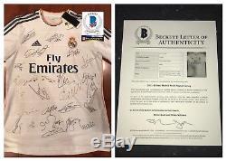 2013-2014 Real Madrid Signed Jersey Kit Cristiano Ronaldo Signed BAS COA Beckett