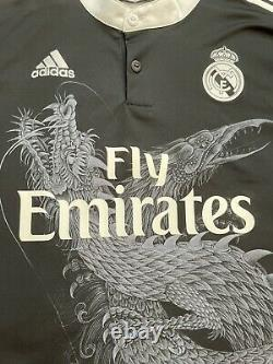 2014/15 Real Madrid Third Jersey #7 RONALDO 2XL Adidas Yamamoto Dragon Black NEW