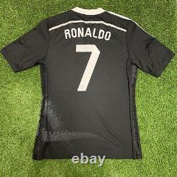 2014 2015 Real Madrid Ronaldo Adidas Jersey Shirt Kit Large L Black Third Dragon