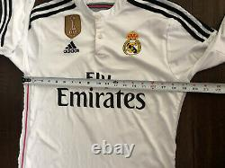 2014 FIFA World Champions RONALDO White ADIDAS Jersey REAL MADRID Pink SZ MEDIUM