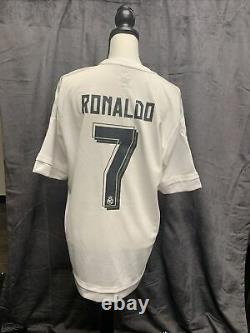 2014 World Champs Real Madrid Ronaldo Jersey Signed By 24 Players ABC Certified