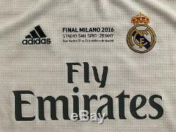 2015/16 Adidas Real Madrid Sergio Ramos UCL Final Long Sleeve Jersey shirt spain