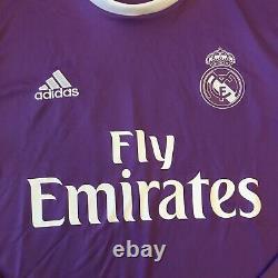 2016/17 Real Madrid Away Jersey #7 Ronaldo Small Adidas Long Sleeve Soccer NEW