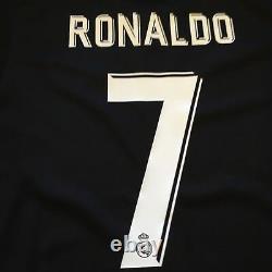 2017/18 Real Madrid Away Jersey #7 RONALDO Medium Adidas Soccer LOS BLANCOS NEW