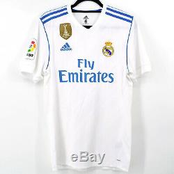 2017-18 Real Madrid Home Shirt #10 MODRIC Match Worn Jersey
