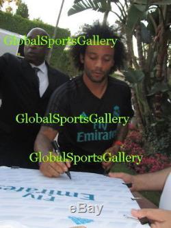 2017-18 Real Madrid team signed soccer jersey football Ronaldo Zidane +21 Proof