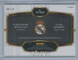2017-18 Select Double Team Jersey Gold Cristiano Ronaldo Luka Modric #06/10 Real