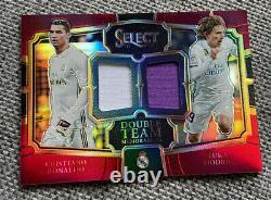 2017-2018 Cristiano Ronaldo / Luka Modric Jersey Panini Select Double Team /199