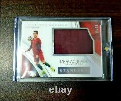 2017 Immaculate Soccer Cristiano Ronaldo Jersey Standard Patch /49 Player Worn