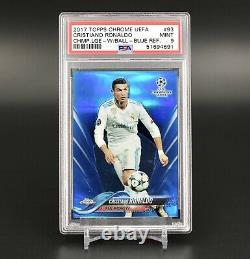2017 Topps Chrome UEFA Champions League Cristiano Ronaldo Blue /150 PSA9