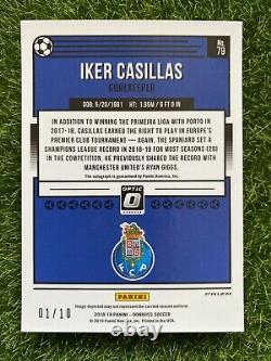 2018-19 Donruss Soccer OPTIC Blue IKER CASILLAS #1/10 Auto Jersey Number