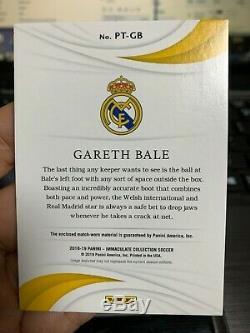 2018-19 Panini Immaculate Patch Jersey ADIDAS 1/1 GARETH BALE REAL MADRID MW