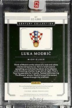 2018 Panini National Treasures Century Collection Jersey Auto Luka Modric /20