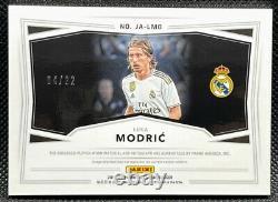 2019-20 Panini Obsidian =Luka Modric= RED Asia Jersey Auto #'d /22 Real Madrid