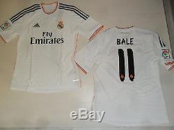 2949 Adidas Tg M Real Madrid Maglia Bale 11 Maglietta Shirt Jersey Trikot