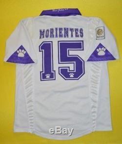 2.5/5 Real Madrid #15 Morientes 19971998 Kelme Football Home Shirt Jersey