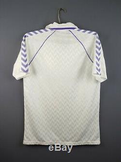 4.7/5 Real Madrid jersey large 1988 1989 home shirt soccer football Hummel ig93