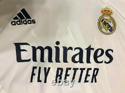 5+/5 AUTHENTIC Real Madrid #4 Ramos 2020/2021 home Size L Adidas shirt jersey