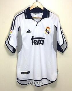 ADIDAS REAL MADRID 2000-2001 HOME VINTAGE FOOTBALL SOCCER SHIRT JERSEY size L