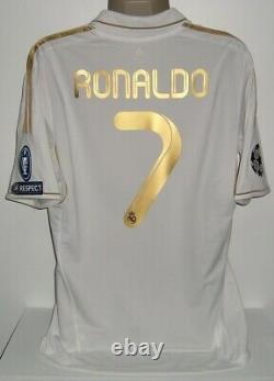 ADIDAS REAL MADRID HOME CHAMPIONS 2011 RONALDO L ORIGINAL JERSEY SHIRT Je129