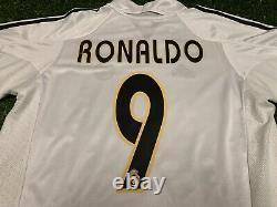 Adidas 2004 2005 Real Madrid Ronaldo Jersey Shirt Kit Home White Medium M 9 Liga
