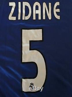 Adidas 2004 2005 Real Madrid Zidane 5 Football Shirt Dual Layer Match Jersey L/s