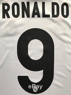 Adidas 2009/10 Real Madrid Cristiano Ronaldo UCL Jersey S CR9 kit shirt juventus
