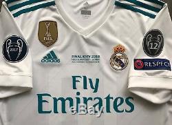 Adidas 2017/18 Real Madrid Luka Modric Champions League Final Jersey Croatia M