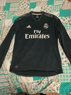 Adidas 2018-2019 Real Madrid Away Authentic Jersey- Navy Size M