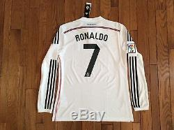 Adidas Cristiano Ronaldo Real Madrid Long Sleeve Home Jersey 14/15 BNWT